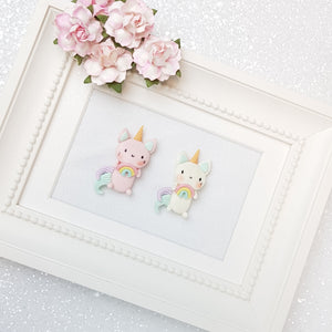 Clay Charm Embellishment - NEW Caticorn Rainbow - Crafty Mood