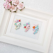 Load image into Gallery viewer, Clay Charm Embellishment - Pouty Seahorse B flower detail - Crafty Mood