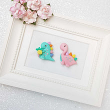 Load image into Gallery viewer, Sale Clay Charm Embellishment - The Dinos - Crafty Mood