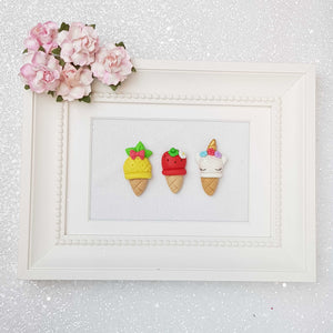 Clay Charm Embellishment - The Summer Ice Cream - Crafty Mood