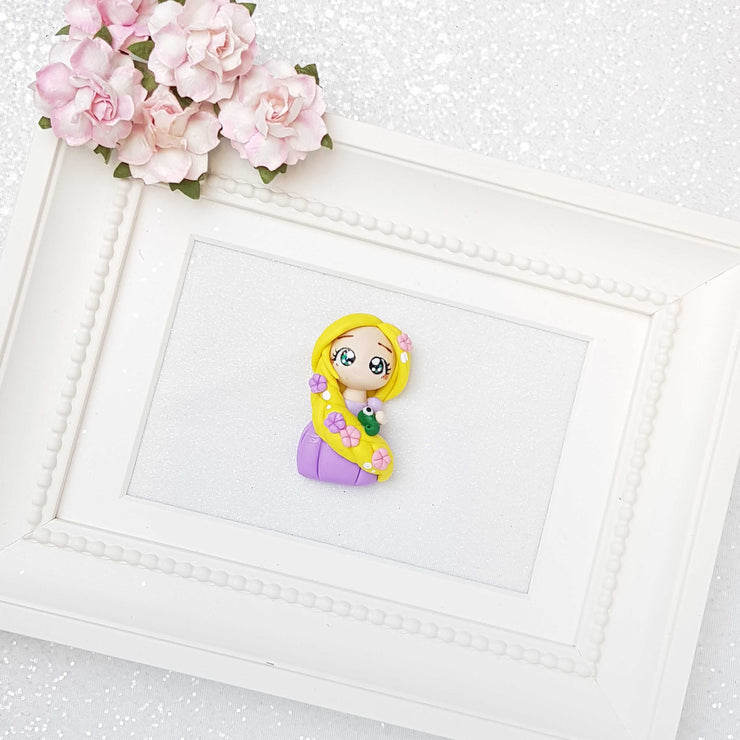 Clay Charm Embellishment - Long Hair Princess - Crafty Mood