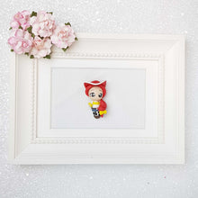 Load image into Gallery viewer, Clay Charm Embellishment - The Big Eyes Cowboy Girl - Crafty Mood