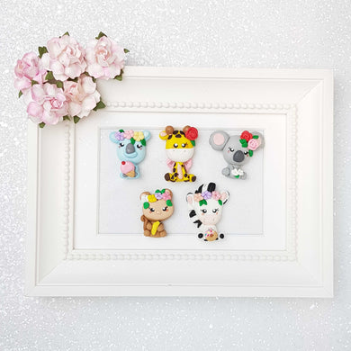 Clay Charm Embellishment - The Animal Friends