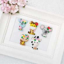Load image into Gallery viewer, Clay Charm Embellishment - The Animal Friends - Crafty Mood