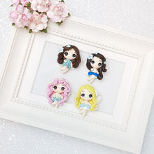 Load image into Gallery viewer, Clay Charm Embellishment - fairy big eyes - Crafty Mood