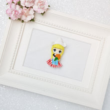 Load image into Gallery viewer, Clay Charm Embellishment - Dutch girl big eyes - Crafty Mood
