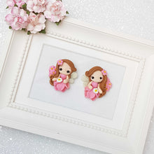 Load image into Gallery viewer, Clay Charm Embellishment - Pink Flower Fairy - Crafty Mood