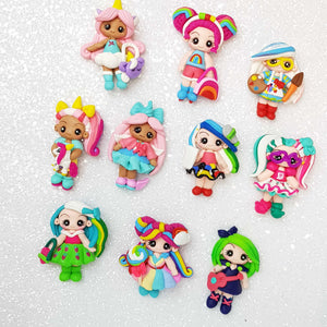 Sale Clay Charm Embellishment - The Fancy Dolls - Crafty Mood