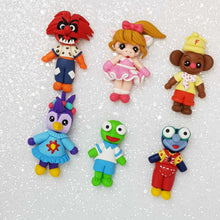 Load image into Gallery viewer, Sale Clay Charm Embellishment - Fancy Puppets - Crafty Mood