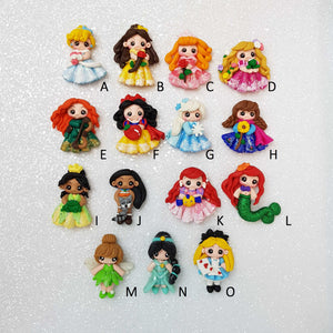 SALE Clay Charm Embellishment - The Fancy Princess