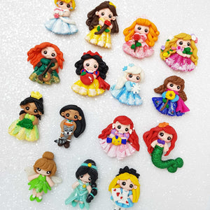 SALE Clay Charm Embellishment - The Fancy Princess - Crafty Mood