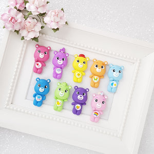 Clay Charm Embellishment - big eyes bear - Crafty Mood