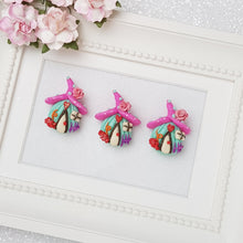Load image into Gallery viewer, Clay Charm Embellishment - pink fairy house - Crafty Mood