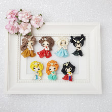 Load image into Gallery viewer, Clay Charm Embellishment - party princess - Crafty Mood