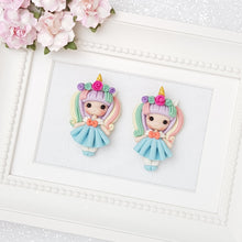 Load image into Gallery viewer, Clay Charm Embellishment - doll unicorn - Crafty Mood