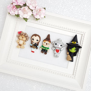 Clay Charm Embellishment - Witch and Girl Big Eyes - Crafty Mood