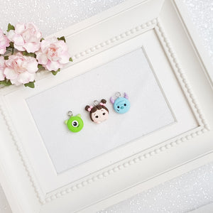 Clay Charm Embellishment - MINI CHARM MONSTER SET OF 3 - Crafty Mood