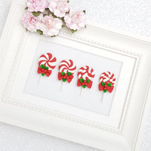 Load image into Gallery viewer, Clay Charm Embellishment - Christmas lollipop - Crafty Mood
