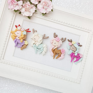 Exclusive Clay Charm Embellishment - Deer Girl - Crafty Mood