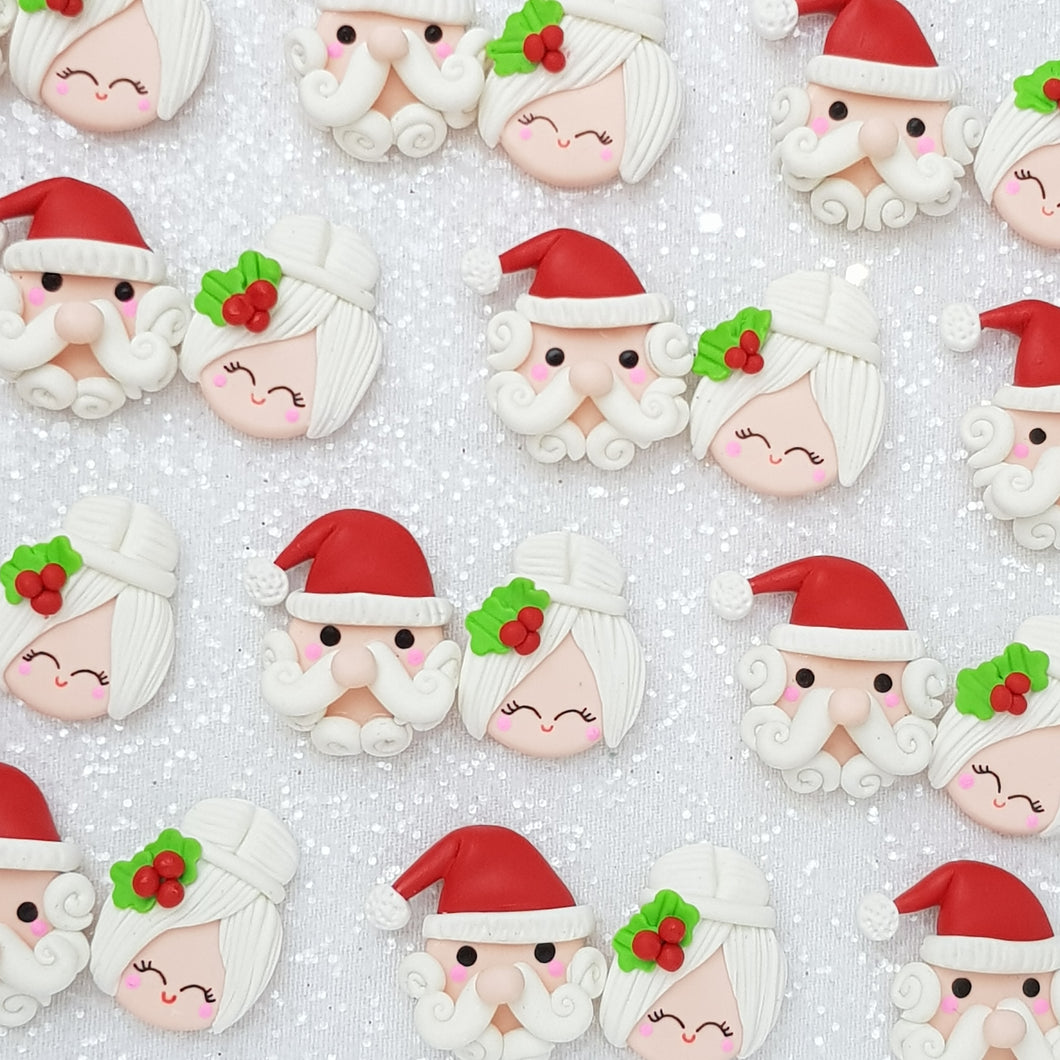 Clay Charm Embellishment - santa claus Delight - Crafty Mood