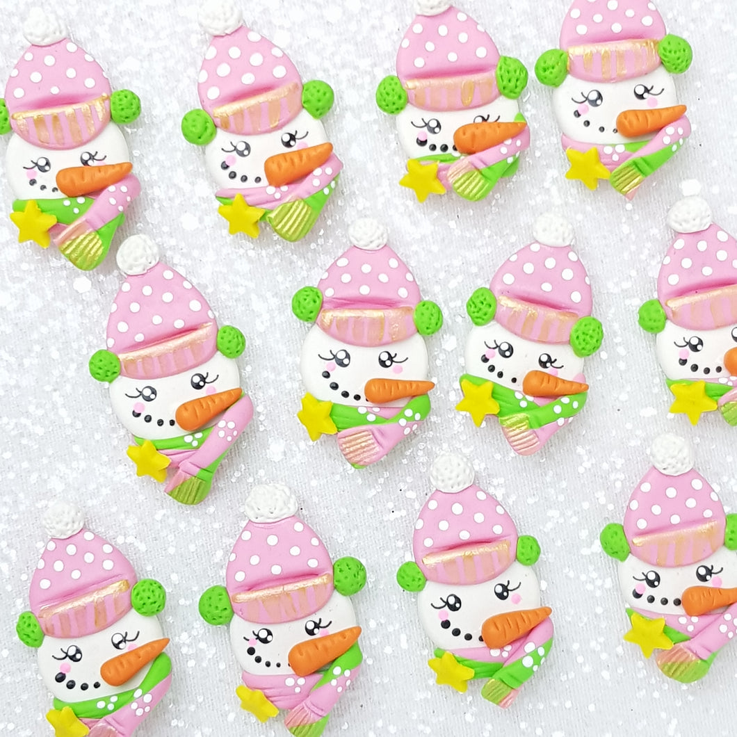 Clay Charm Embellishment - snowman Delight - Crafty Mood