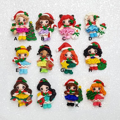 Clay Charm Embellishment - Christmas Princess - Crafty Mood