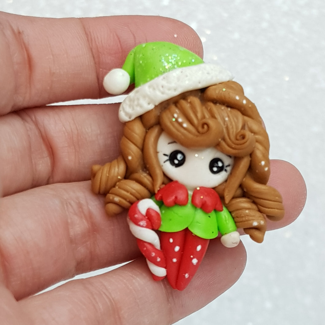 Clay Charm Embellishment - New Elf Girl - Crafty Mood