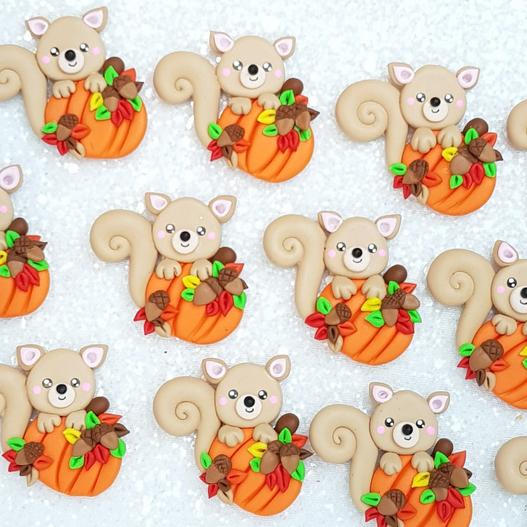 Clay Charm Embellishment - squirell Delight - Crafty Mood