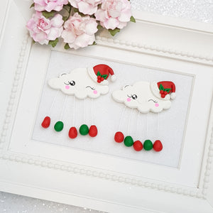 Clay Charm Embellishment - Cloud Rain christmas - Crafty Mood
