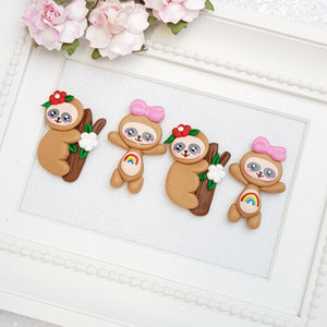 Clay Charm Embellishment - Sloth Delight