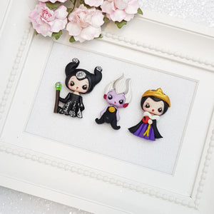 Clay Charm Embellishment - mini lux villain - Crafty Mood