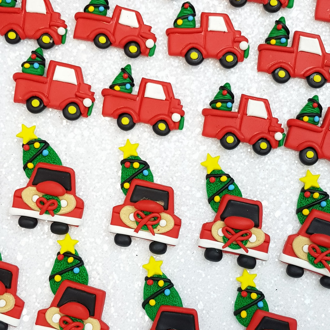 Clay Charm Embellishment - christmas car - Crafty Mood