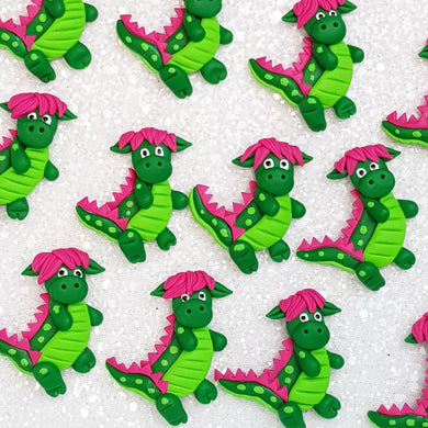 Clay Charm Embellishment - dino dragon - Crafty Mood