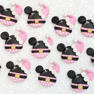 Clay Charm Embellishment - pink mouse - Crafty Mood