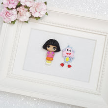 Load image into Gallery viewer, Clay Charm Embellishment - Big Eyes Explorer Girl - Crafty Mood