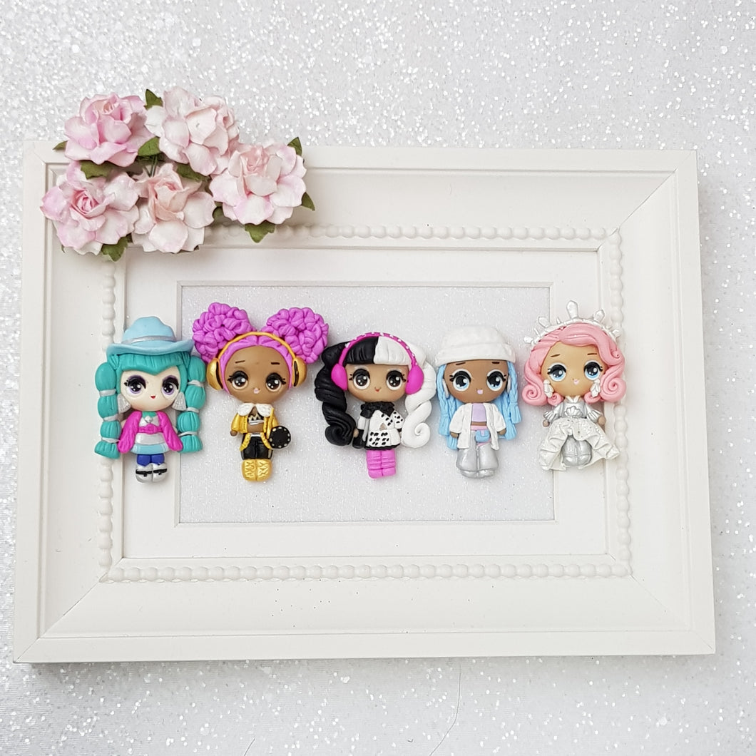 Doll Girls - Embellishment Clay Bow Centre - Crafty Mood