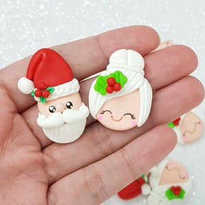 Mr and Mrs Santa - Embellishment Clay Bow Centre - Crafty Mood