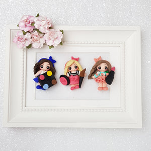 Sale Lovely make up girls - Embellishment Clay Bow Centre - Crafty Mood