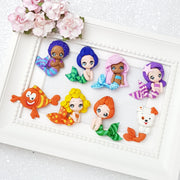 Sale The guppy friends - Handmade Flatback Clay Bow Centre - Crafty Mood