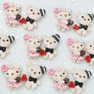 Sale Clay Charm Embellishment - New Bear - Crafty Mood