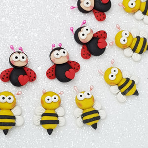 Clay Charm Embellishment - NEW LADYBUG / BEE - Crafty Mood