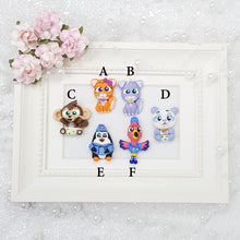 Load image into Gallery viewer, Sale Baby Animal Friends - Embellishment Clay Bow Centre - Crafty Mood