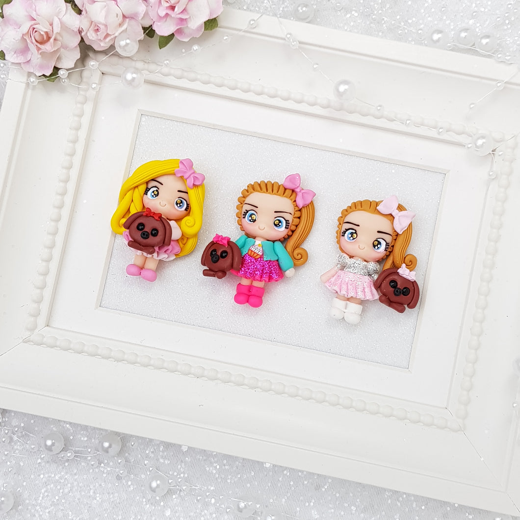Popular Girls - Handmade Flatback Clay Bow Centre - Crafty Mood