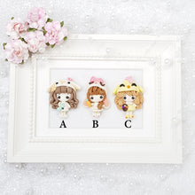 Load image into Gallery viewer, Sale Dressing Up Easter Animal Girls - Embellishment Clay Bow Centre - Crafty Mood