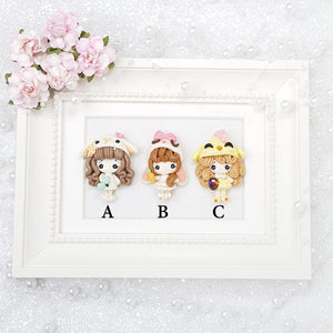 Sale Dressing Up Easter Animal Girls - Embellishment Clay Bow Centre - Crafty Mood