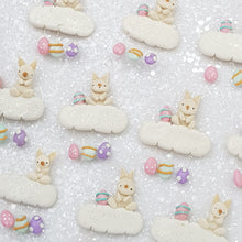 Load image into Gallery viewer, Bunny Easter Cloud - Handmade Flatback Clay Bow Centre - Crafty Mood