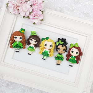 St Patrick Girls - Embellishment Clay Bow Centre - Crafty Mood