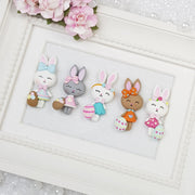 Pretty Easter Bunny - Embellishment Clay Bow Centre - Crafty Mood