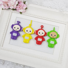 Load image into Gallery viewer, Colourful Robots - Embellishment Clay Bow Centre - Crafty Mood
