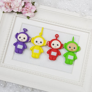 Colourful Robots - Embellishment Clay Bow Centre - Crafty Mood